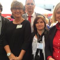 Simone Fleischmann (BLLV) und Doris Rauschen (Mdl) im Gespäch mit der AfB zum Thema Guter Ganztag